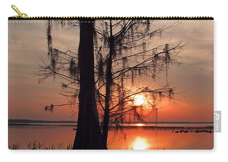 Nature Carry-all Pouch featuring the photograph Cypress Sunset by Peg Urban