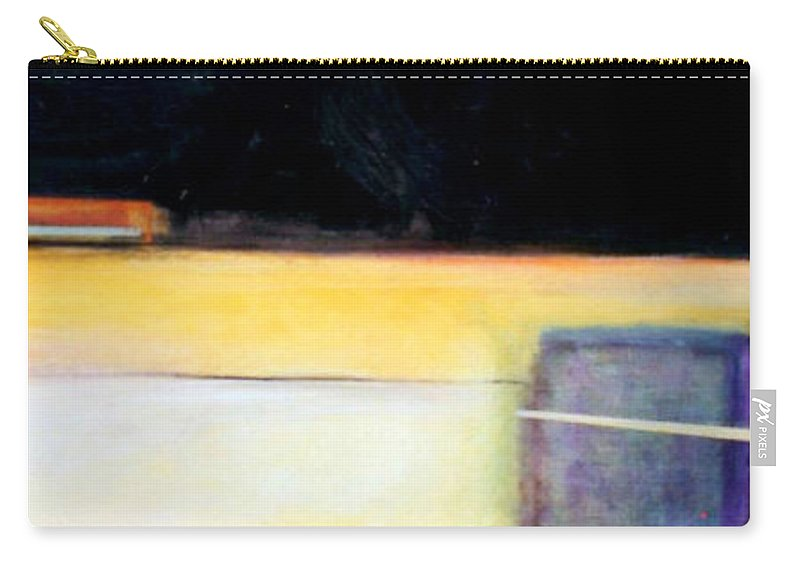 Abstract Carry-all Pouch featuring the painting D-bird Lightening Bug by Marlene Burns