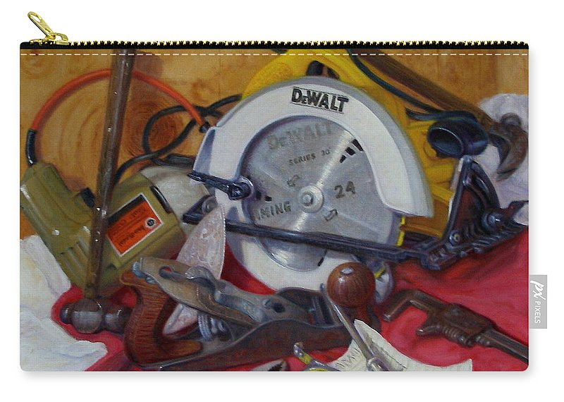 Realism Carry-all Pouch featuring the painting D. I. Y. 2  by Donelli DiMaria