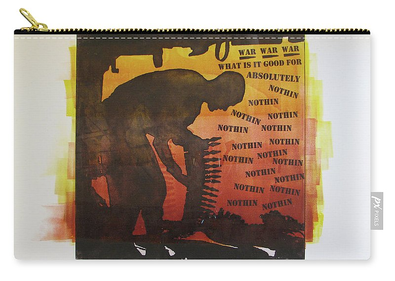 War Carry-all Pouch featuring the painting D U Rounds Project, Print 18 by Erik Paul