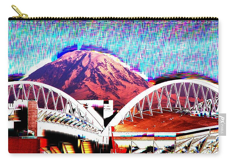 Seattle Carry-all Pouch featuring the photograph Da Mountain And Stadia 2 by Tim Allen