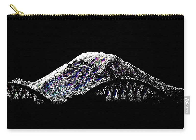 Mount Rainier Carry-all Pouch featuring the digital art Da Mountain And Stadia by Tim Allen