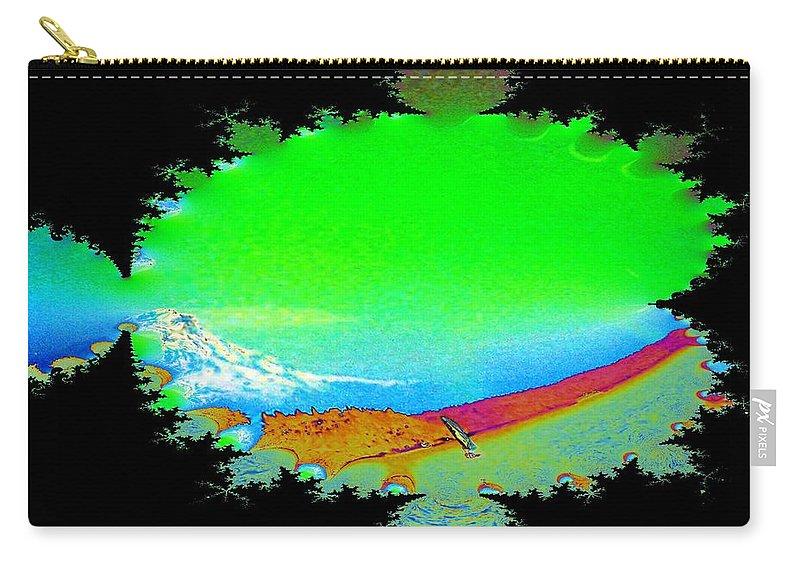 Washington Carry-all Pouch featuring the digital art Da Mountain Sail In Fractal by Tim Allen
