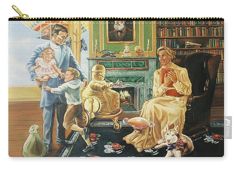 Fantasy Carry-all Pouch featuring the painting Daddys Home by Bryan Bustard