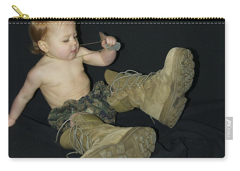 Shoes Carry-all Pouch featuring the photograph Daddys Shoes by Michael Peychich