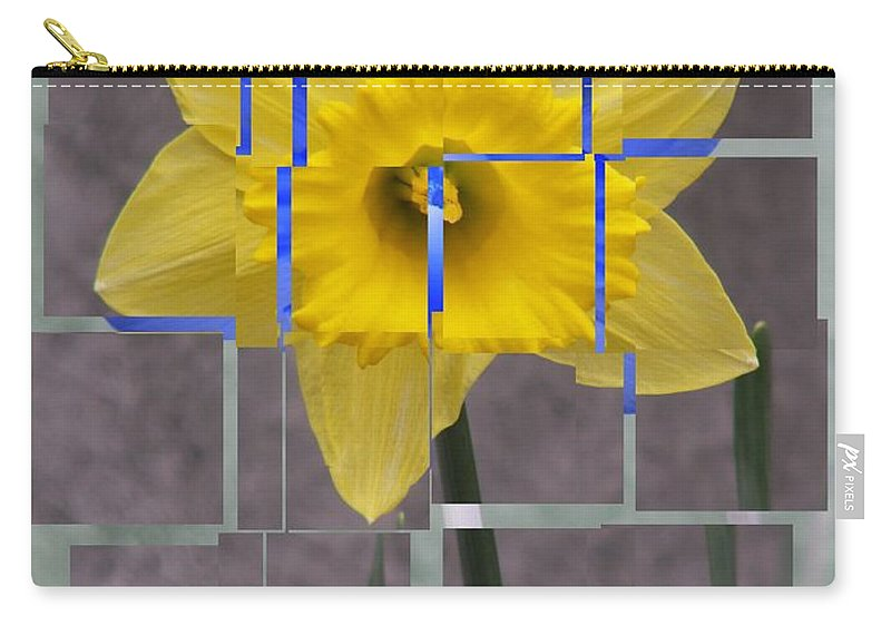Flower Carry-all Pouch featuring the digital art Daffodil 1 by Tim Allen