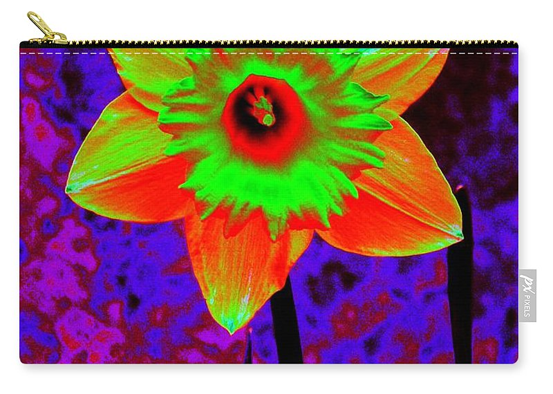 Daffodil Carry-all Pouch featuring the photograph Daffodil 2 by Tim Allen