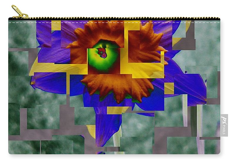 Daffodil Carry-all Pouch featuring the photograph Daffodil 3 by Tim Allen