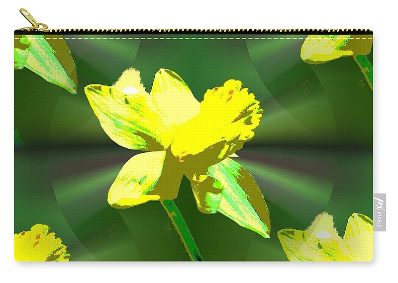 Daffodil Carry-all Pouch featuring the digital art Daffodil Delight by Tim Allen
