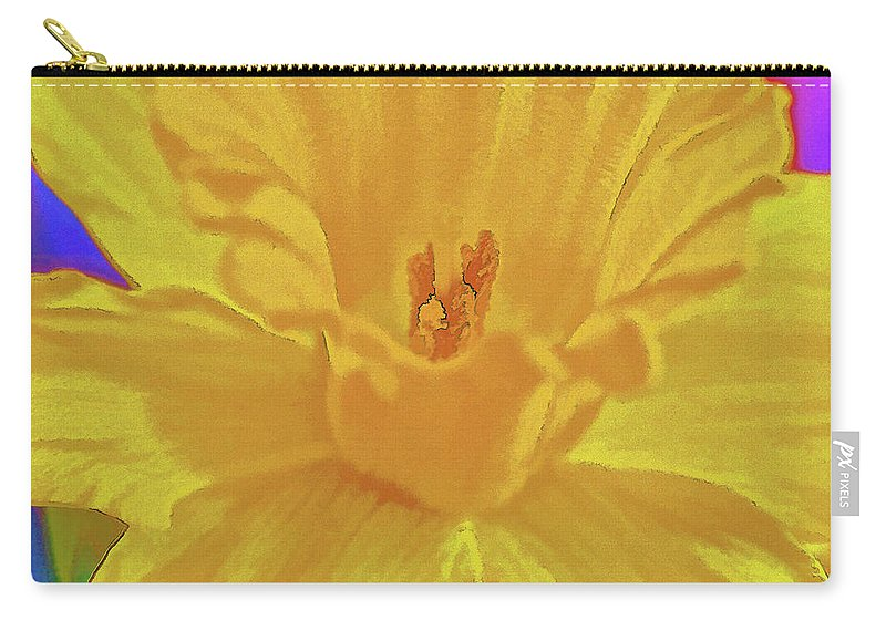 Flower Carry-all Pouch featuring the photograph Daffodil In Spring by Charles Muhle