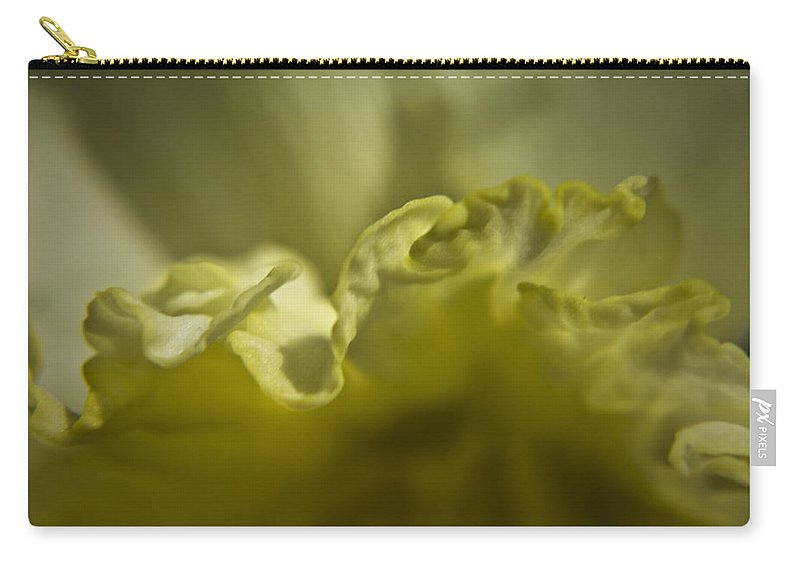 Flower Carry-all Pouch featuring the photograph Daffodil Ruffles by Teresa Mucha