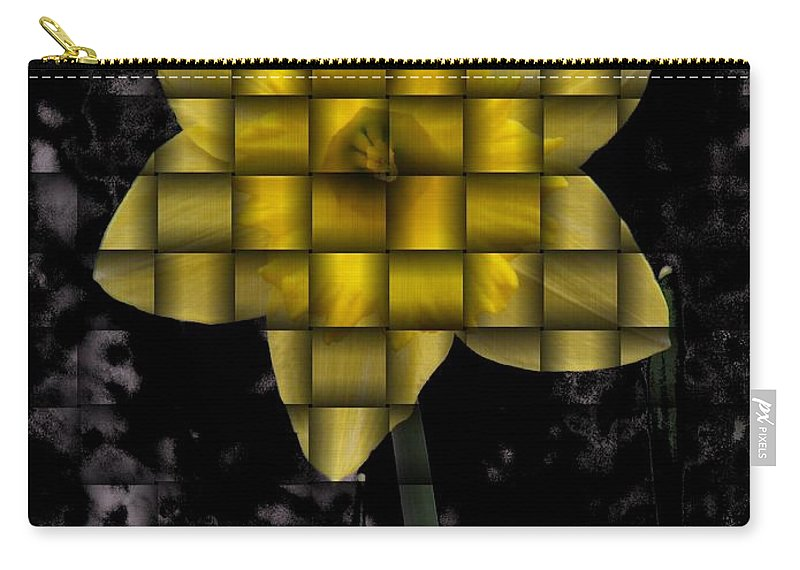 Daffodil Carry-all Pouch featuring the photograph Daffodil Weave by Tim Allen