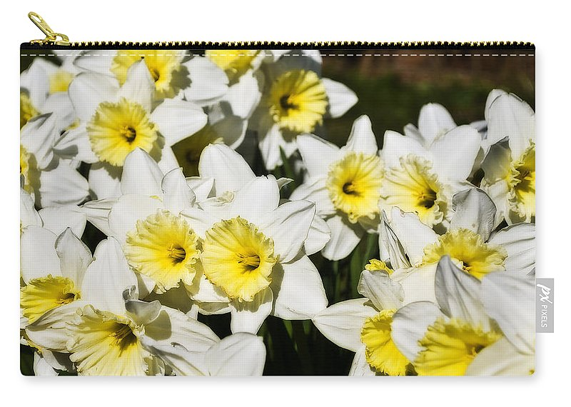 Flowers Carry-all Pouch featuring the photograph Daffodils by Svetlana Sewell