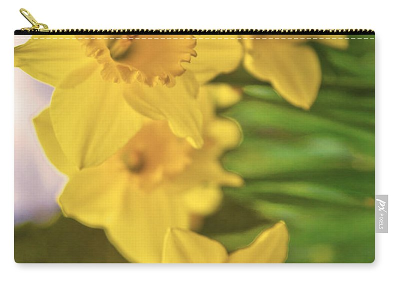 Flower Carry-all Pouch featuring the photograph Daffodils V2 by Alex Art and Photo