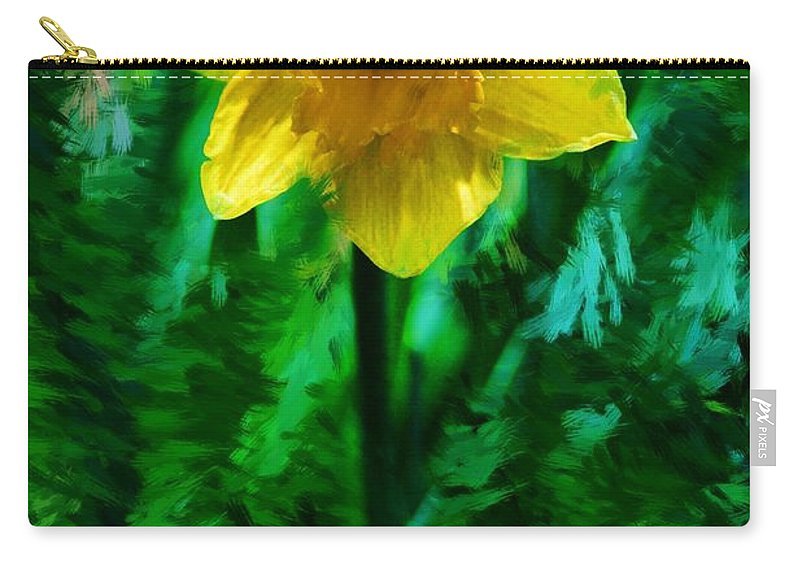 Abstract Carry-all Pouch featuring the photograph Daffy Dill by David Lane