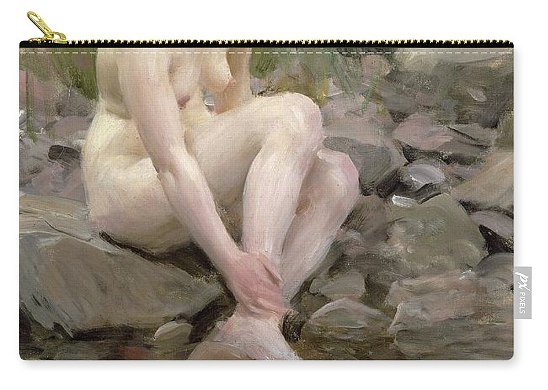 Dagmar Carry-all Pouch featuring the painting Dagmar by Anders Leonard Zorn