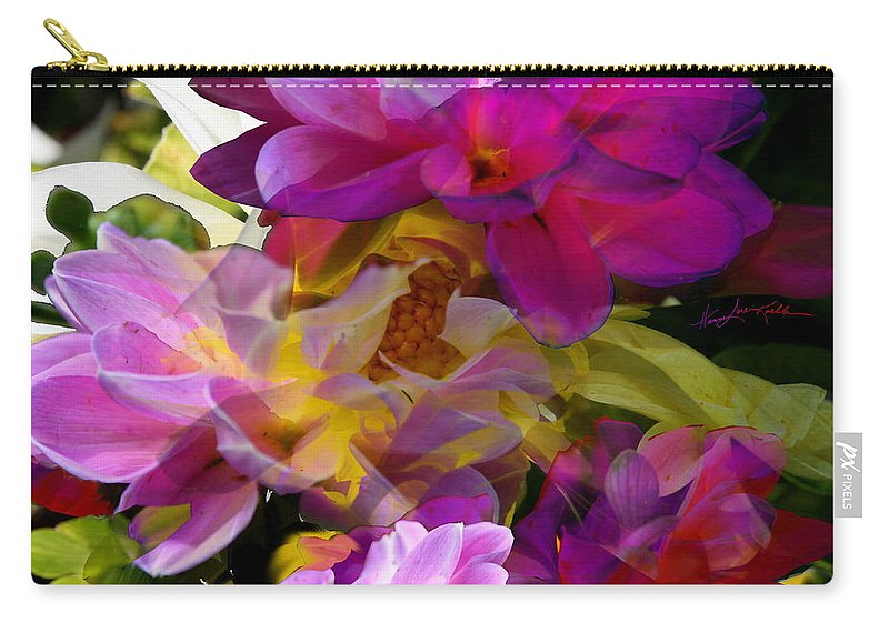 Dahlia Carry-all Pouch featuring the photograph Dahlia Dreams by Hanne Lore Koehler