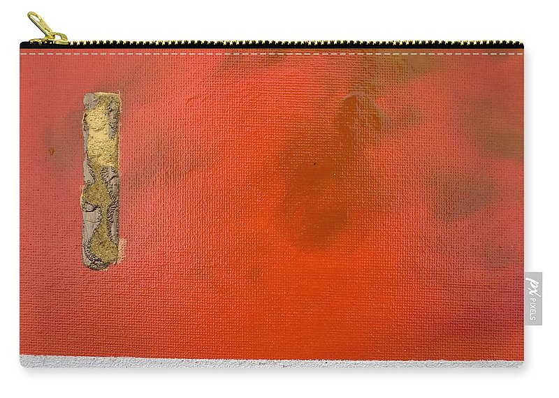 Goldplated Carry-all Pouch featuring the painting Daily Abstraction 218022101 by Eduard Meinema