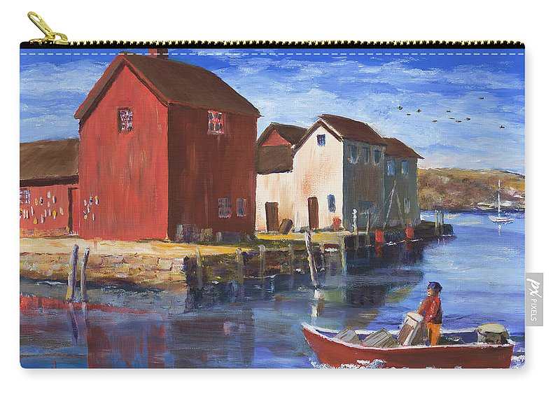 Massachusetts Carry-all Pouch featuring the painting Daily Harvest by Ken Pieper