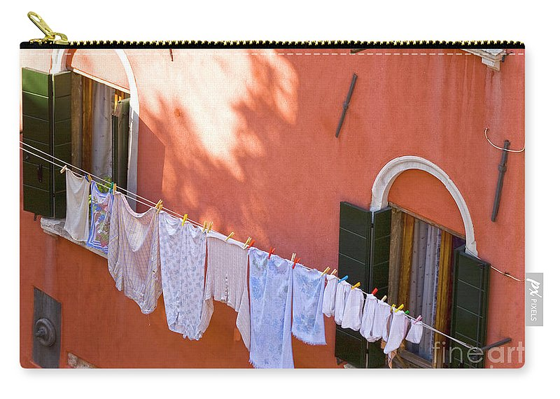 Heiko Carry-all Pouch featuring the photograph Daily Life In Venice by Heiko Koehrer-Wagner