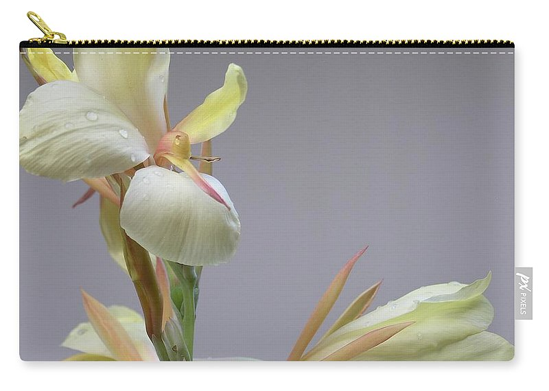 Yellow Carry-all Pouch featuring the photograph Dainty Orchid by Mary Deal