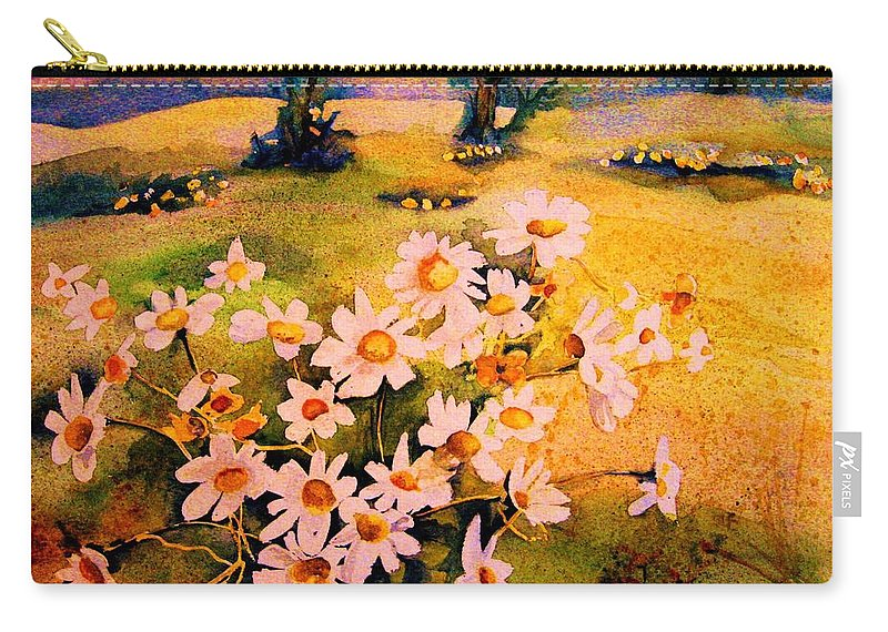 Daisies Carry-all Pouch featuring the painting Daisies In The Sun by Carole Spandau