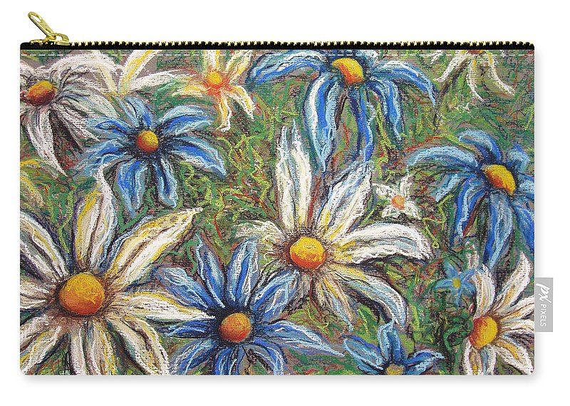 Daisies Carry-all Pouch featuring the pastel Daisies Pastel by Nancy Mueller