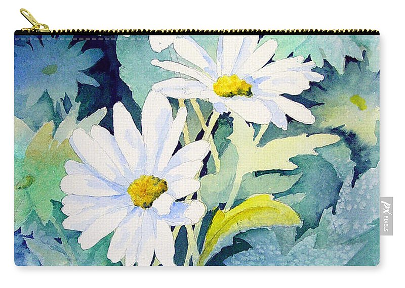 Flowers Carry-all Pouch featuring the painting Daisies by Sam Sidders