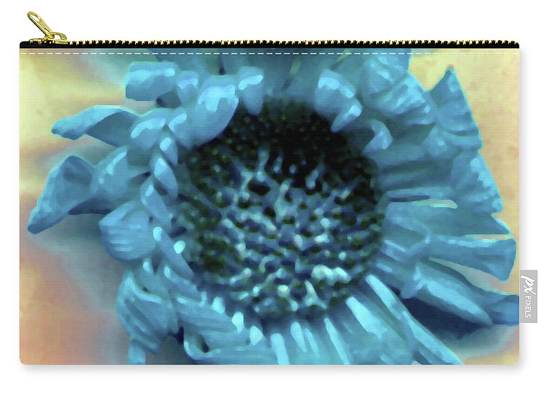 Carry-all Pouch featuring the photograph Daisy Blue by Heather Kirk