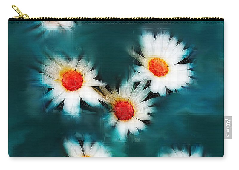 Flowers Carry-all Pouch featuring the photograph Daisy Blue by Linda Sannuti