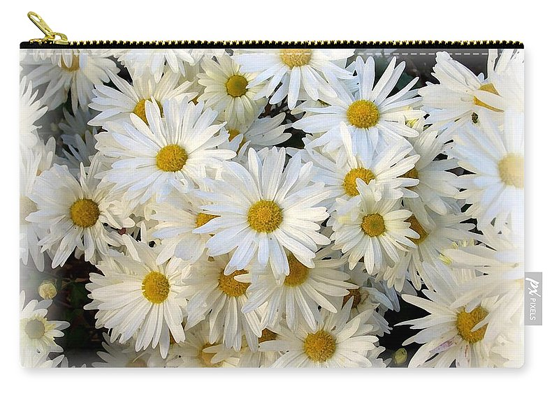 Daisy Carry-all Pouch featuring the photograph Daisy Bouquet by Carol Sweetwood