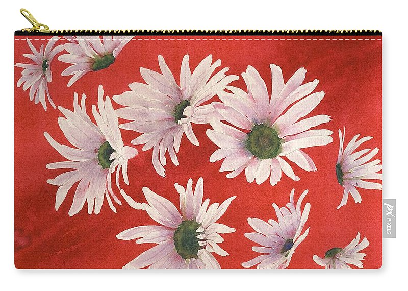Flowers Carry-all Pouch featuring the painting Daisy Chain by Ruth Kamenev