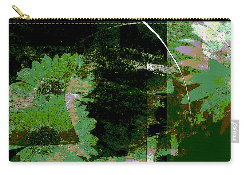 Abstract Carry-all Pouch featuring the mixed media Daisy Chain by Ruth Palmer