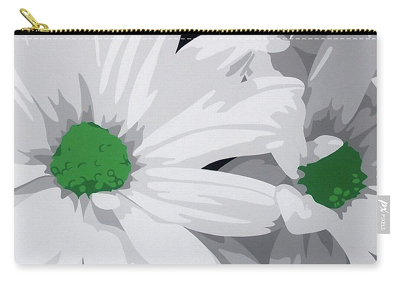 Acrylic On Canvas Carry-all Pouch featuring the painting Daisy Chain by Susan Porter