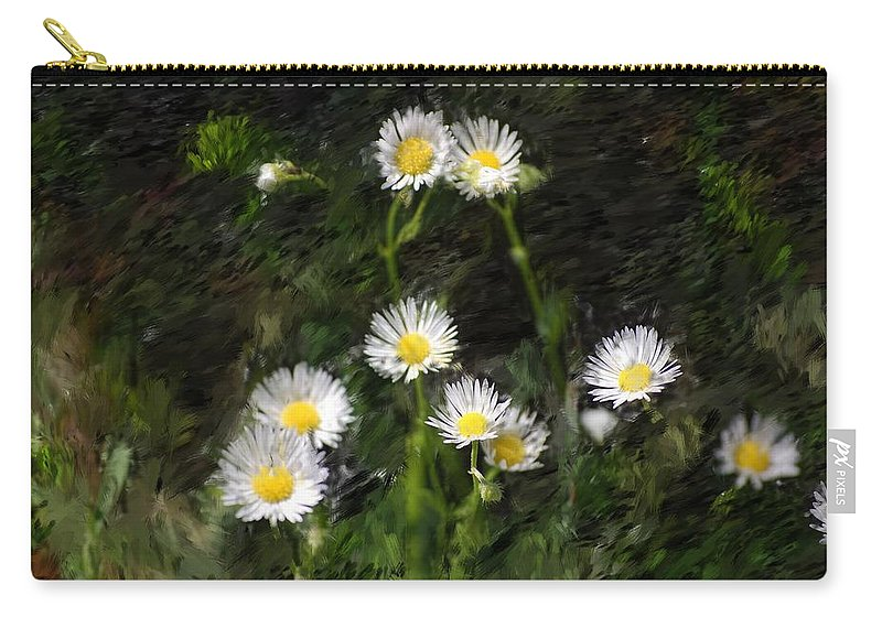 Digital Photograph Carry-all Pouch featuring the photograph Daisy Day Fantasy by David Lane