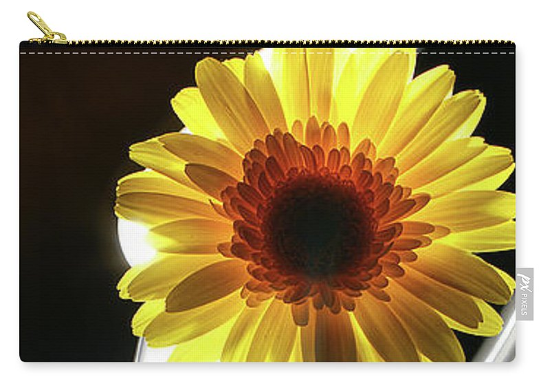 Flower Carry-all Pouch featuring the photograph Daisy In White by Bruce Bradley