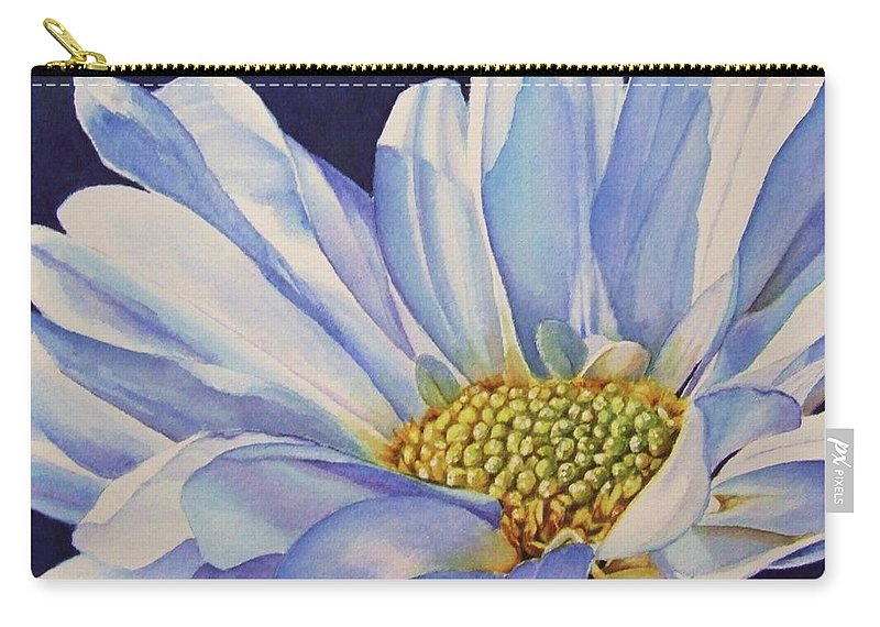 Daisy Carry-all Pouch featuring the painting Daisy by Greg and Linda Halom