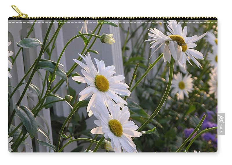 Daisy Carry-all Pouch featuring the photograph Daisy's Escaping by Diane Greco-Lesser