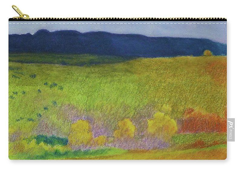 North Dakota Carry-all Pouch featuring the painting Dakota Dream by Cris Fulton