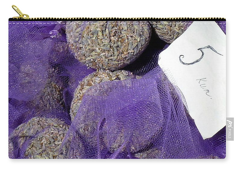 Lavender Carry-all Pouch featuring the photograph Dalmatian Lavender by Carla Parris