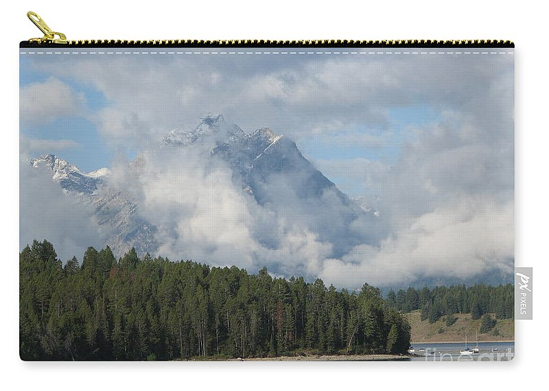 Patzer Carry-all Pouch featuring the photograph Dam Clouds by Greg Patzer