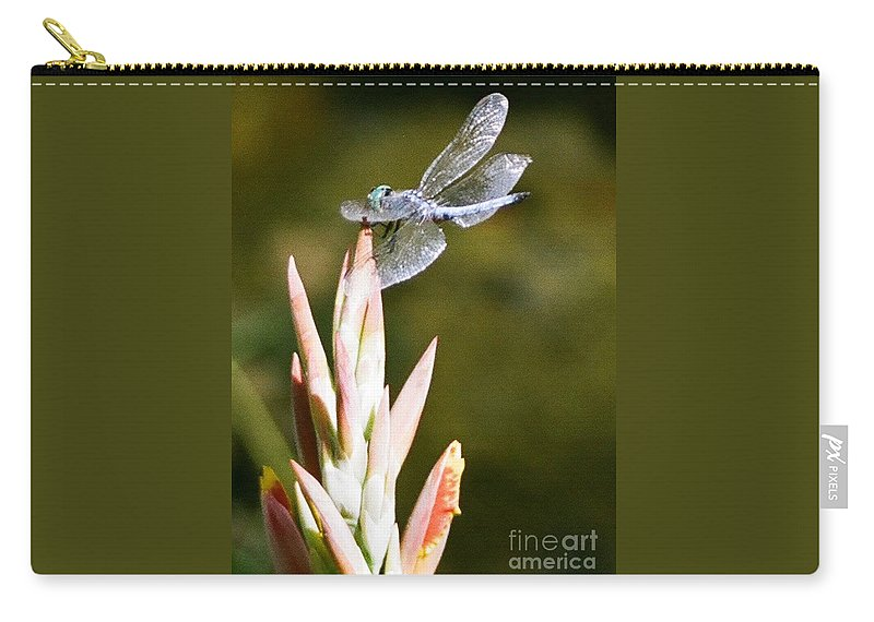 Dragonfly Carry-all Pouch featuring the photograph Damselfly by Dean Triolo