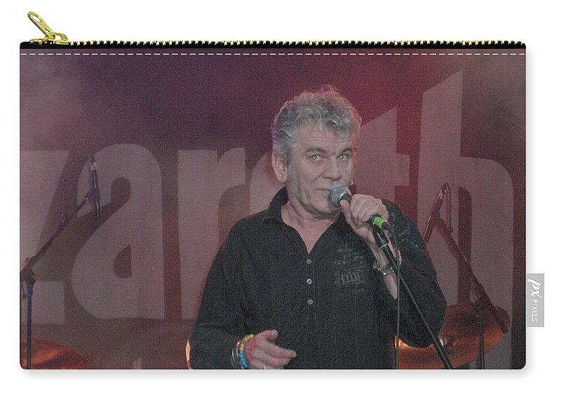 Dan Mcafferty Nazareth Band Music Classic Rock And Roll Singer Carry-all Pouch featuring the photograph Dan Mccafferty by Andrea Lawrence