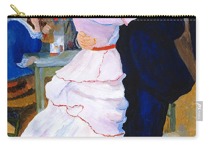 Dance At Bougival Carry-all Pouch featuring the painting Dance At Bougival After Renoir by Rodney Campbell