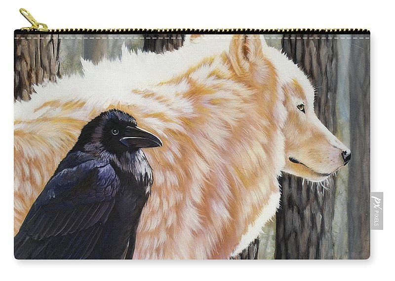 Acrylic Carry-all Pouch featuring the painting Dance In The Light by Sandi Baker