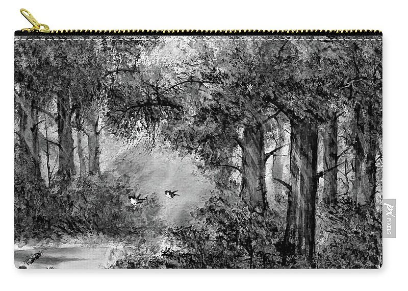 Thailand Carry-all Pouch featuring the painting Dance Me To The End Of Love Bw by Steve Harrington