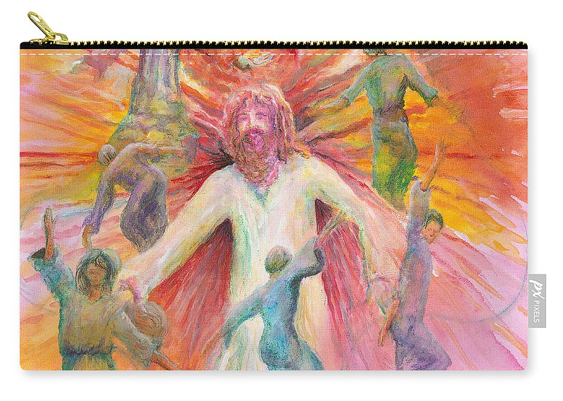 Jesus Carry-all Pouch featuring the painting Dance of Freedom by Nadine Rippelmeyer