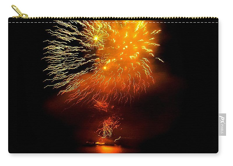 Fireworks Carry-all Pouch featuring the photograph Dance Of The Fireflies by Kendall Eutemey
