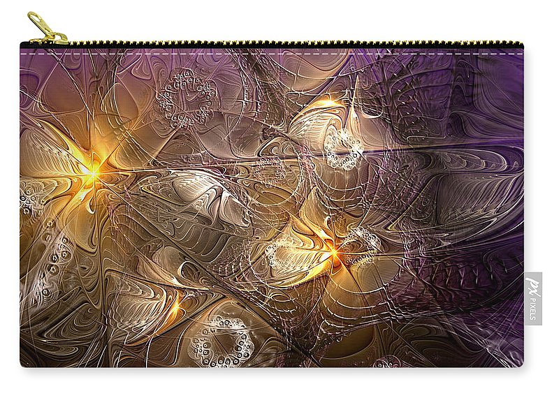 Abstract Carry-all Pouch featuring the digital art Dance Of The Necromancer by Casey Kotas