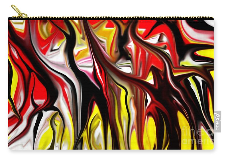Abstract Carry-all Pouch featuring the digital art Dance Of The Sugar Plum Faries by David Lane